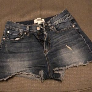 Womens PINK Victoria's Secret Denim Shorts